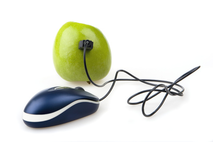 Apple with mouse